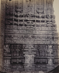 Tarputry [Tadpatri]. Temple in ruins near the river. Carvings on base of ruined south tower
